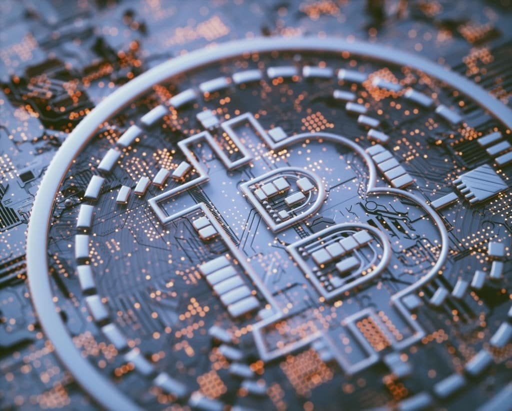 Bitcoin sur un circuit imprimé